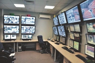 Auckland New Zealand Security Camera Control Room In A Business
